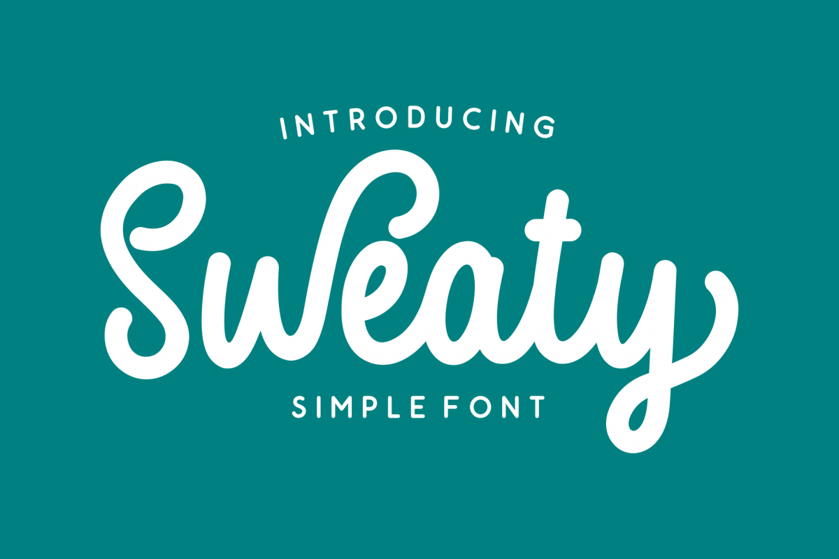 Sweaty | Bold Script Font example image 1