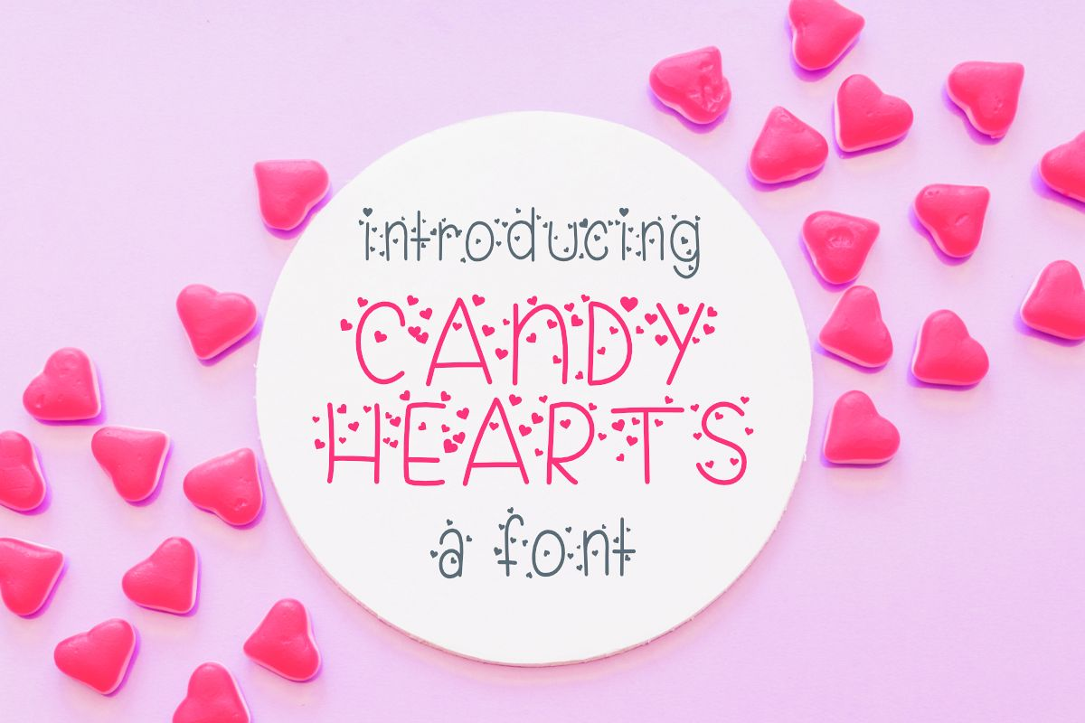 Candy Hearts Valentine Font example image 1
