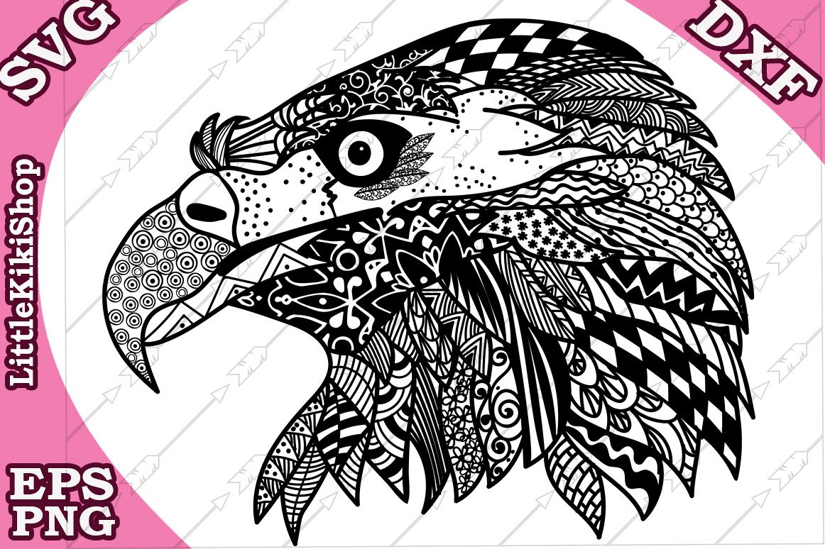 Eagle Svg,MANDALA EAGLE SVG,Cricut Svg file,Zentangle Svg example image 1