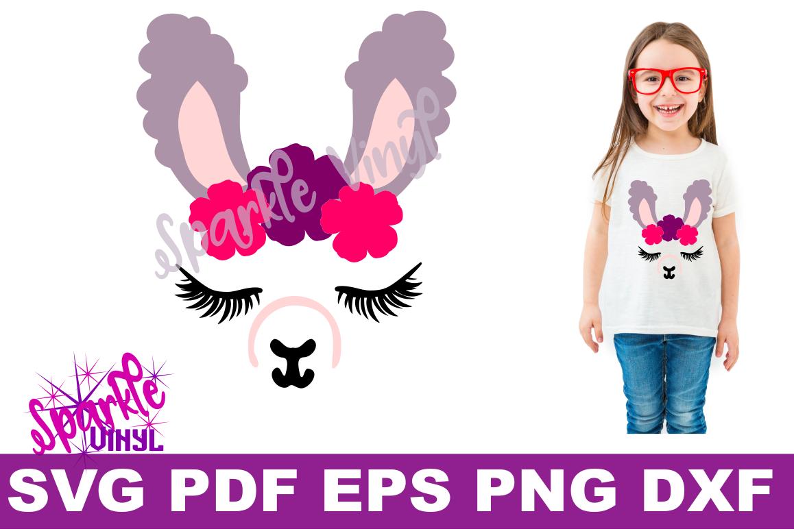 Llama Face SVG DXF EPS PNG Llama design clipart example image 1
