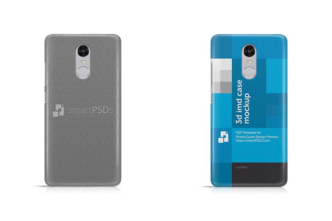 Xiaomi Redmi Note 4 3d IMD Mobile Case Design Mockup 2017 example image 1
