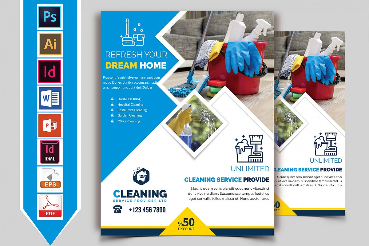 Cleaning Service Flyer Vol-06 example image 1