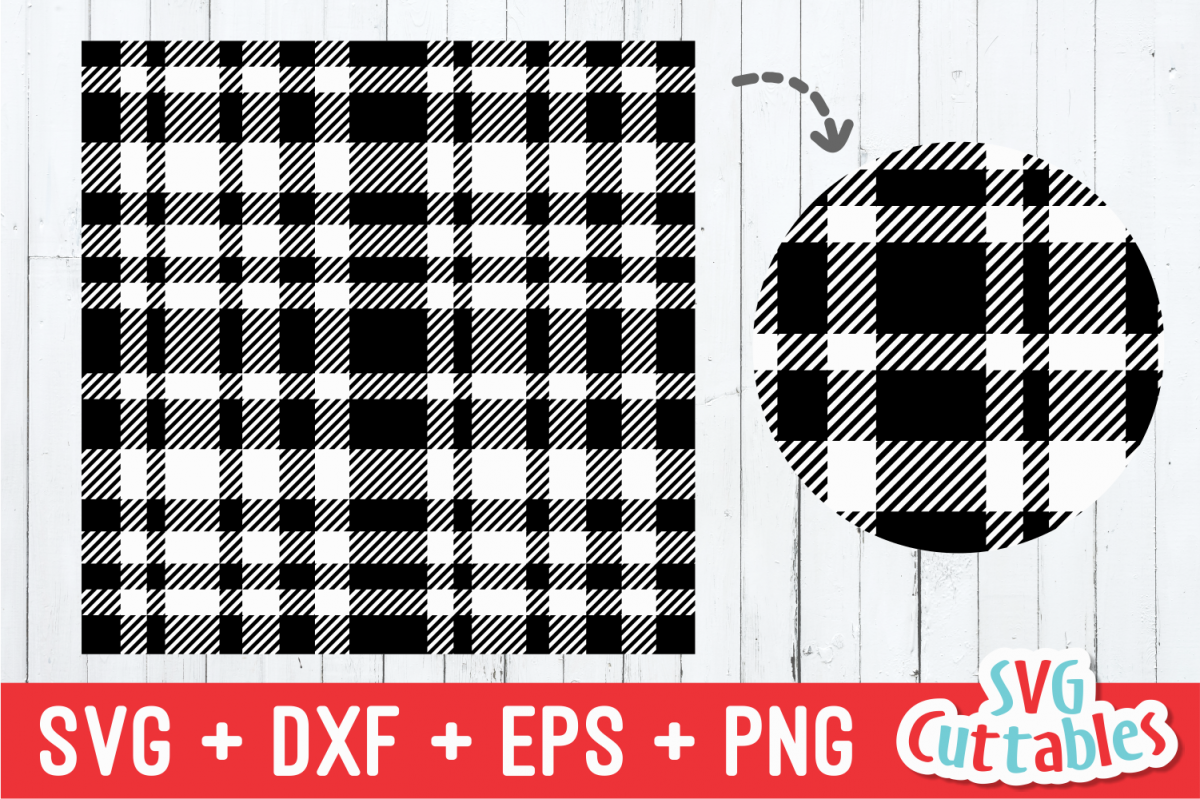 Plaid Pattern | Design | SVG Cut File example image 1