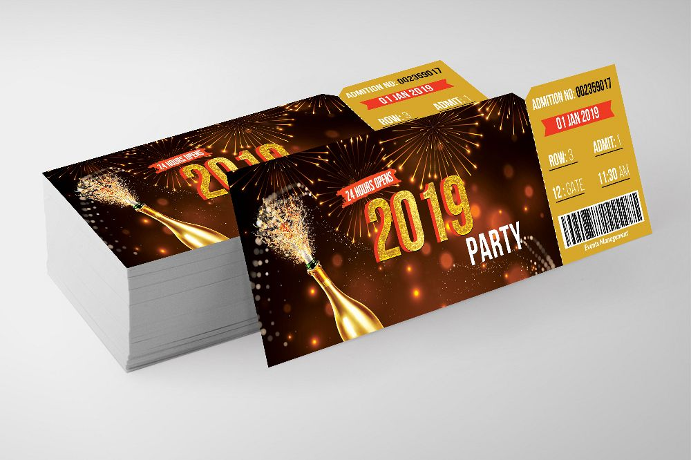 Happy New Year Party Ticket example image 1