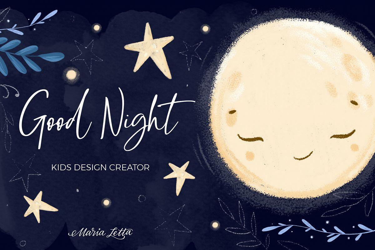 Good night - kids design creator example image 1