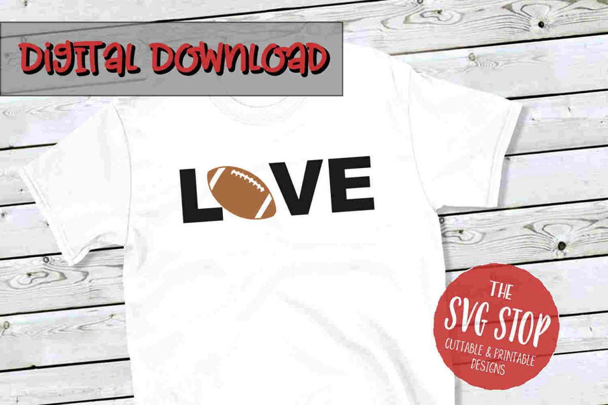 Football Love -SVG, PNG, DXF example image 1