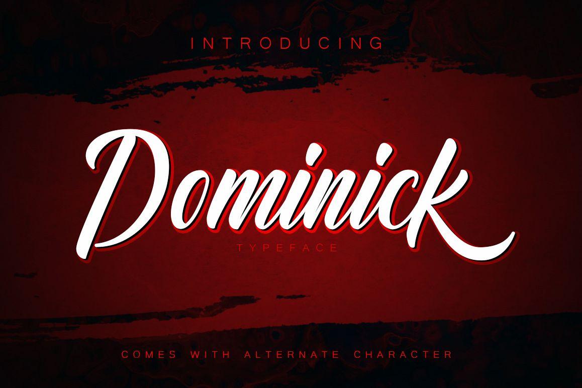 Dominick Script Font example image 1