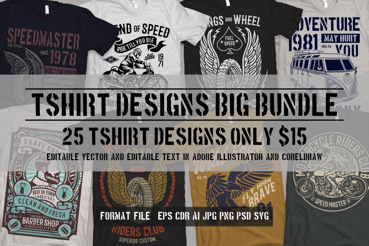 25 Premium Tshirt Designs Big Bundle 2 Free Download