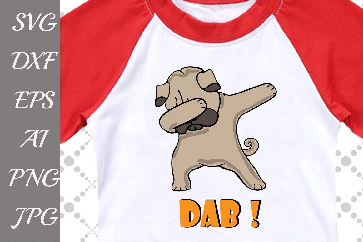 Dabbing Pug Svg example image 1