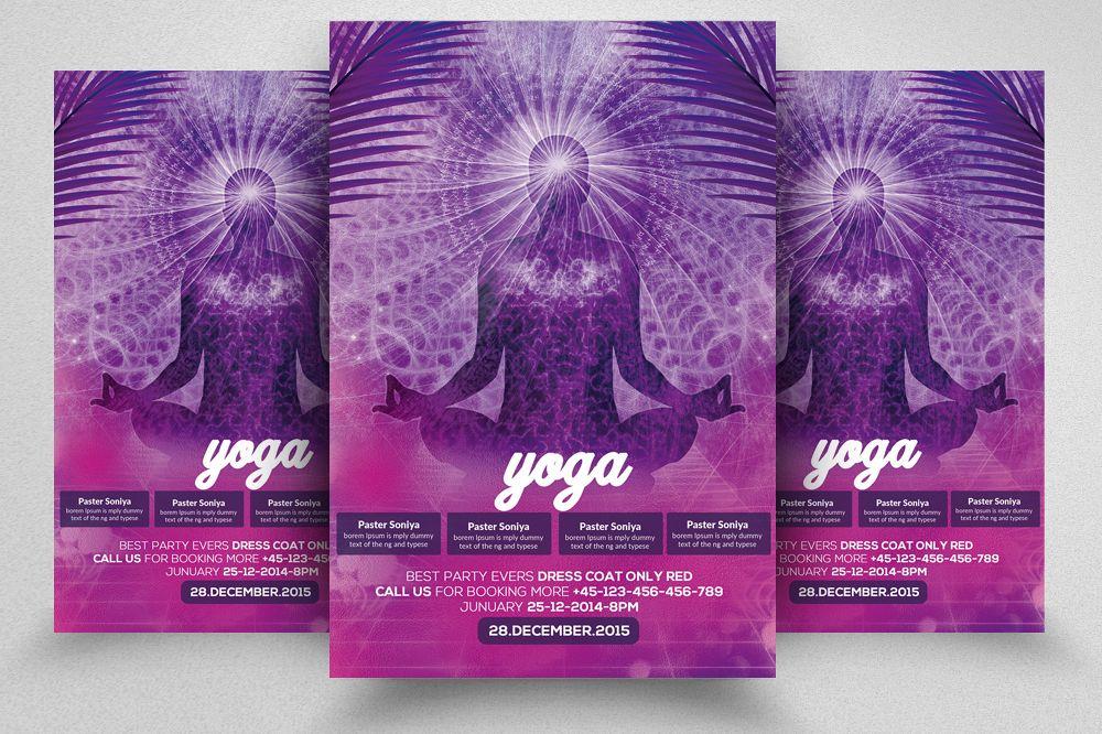 Yoga Flyer Template 05 by Designhub719 | Design Bundles
