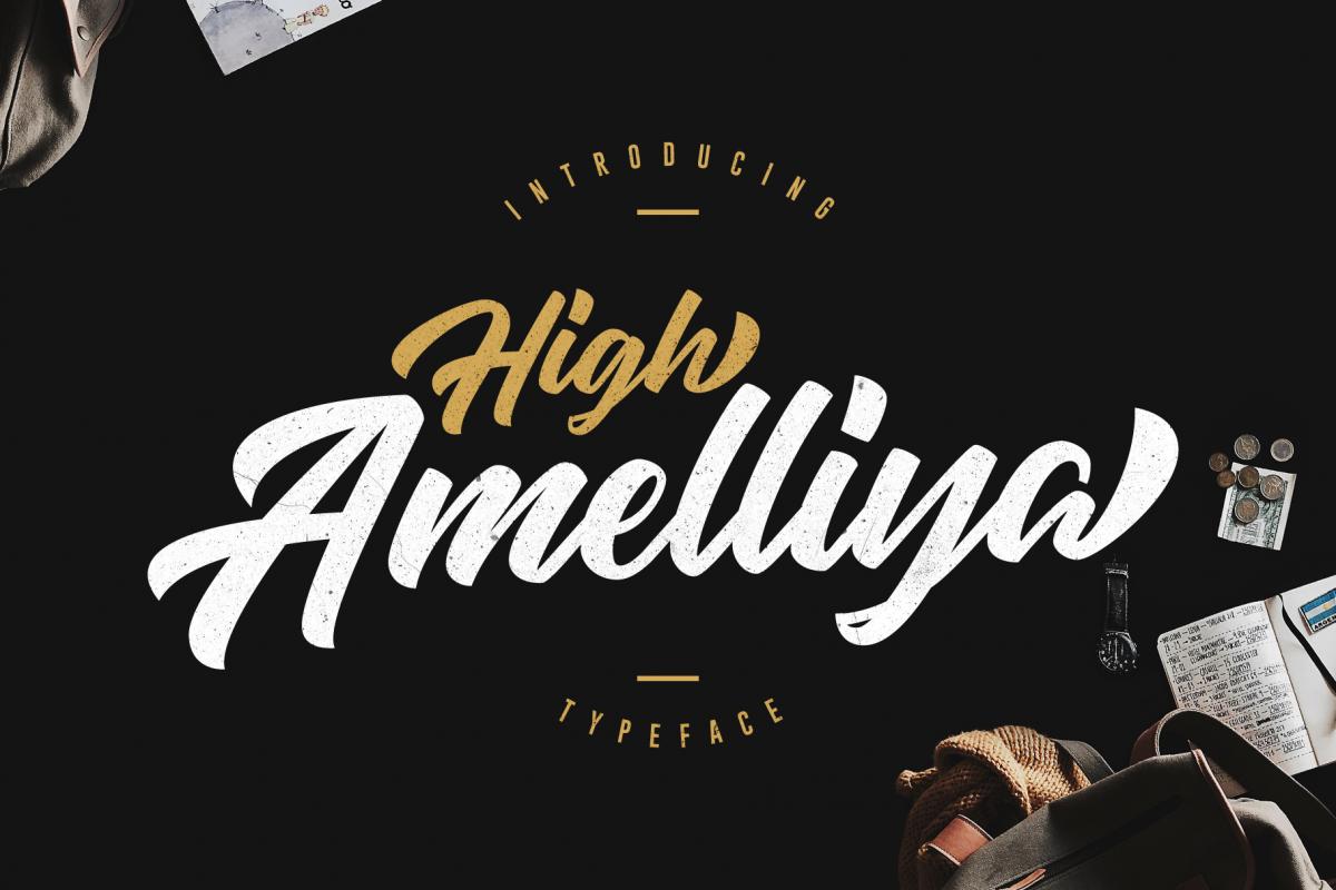 High Amelliya Typeface example image 1