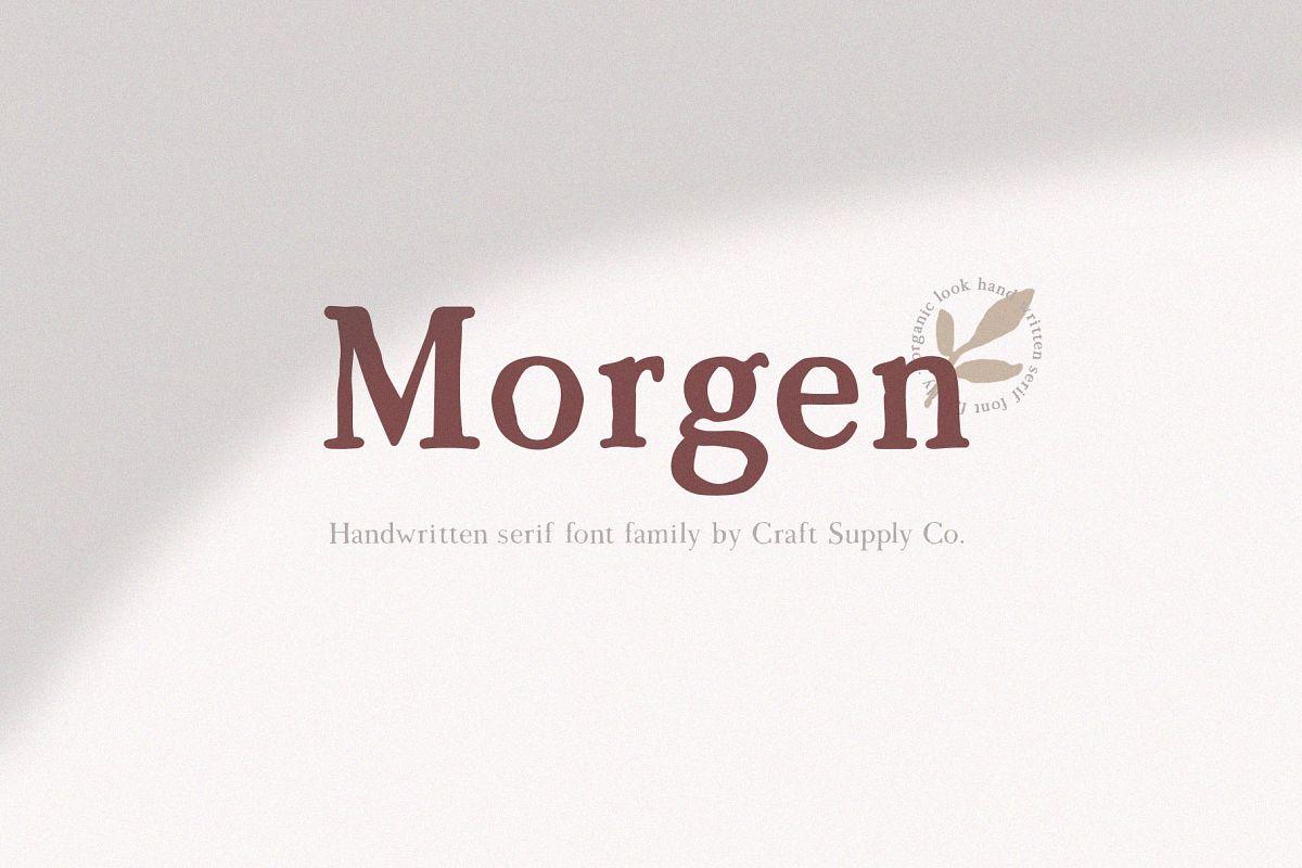 Morgen - Handwritten Serif Font example image 1