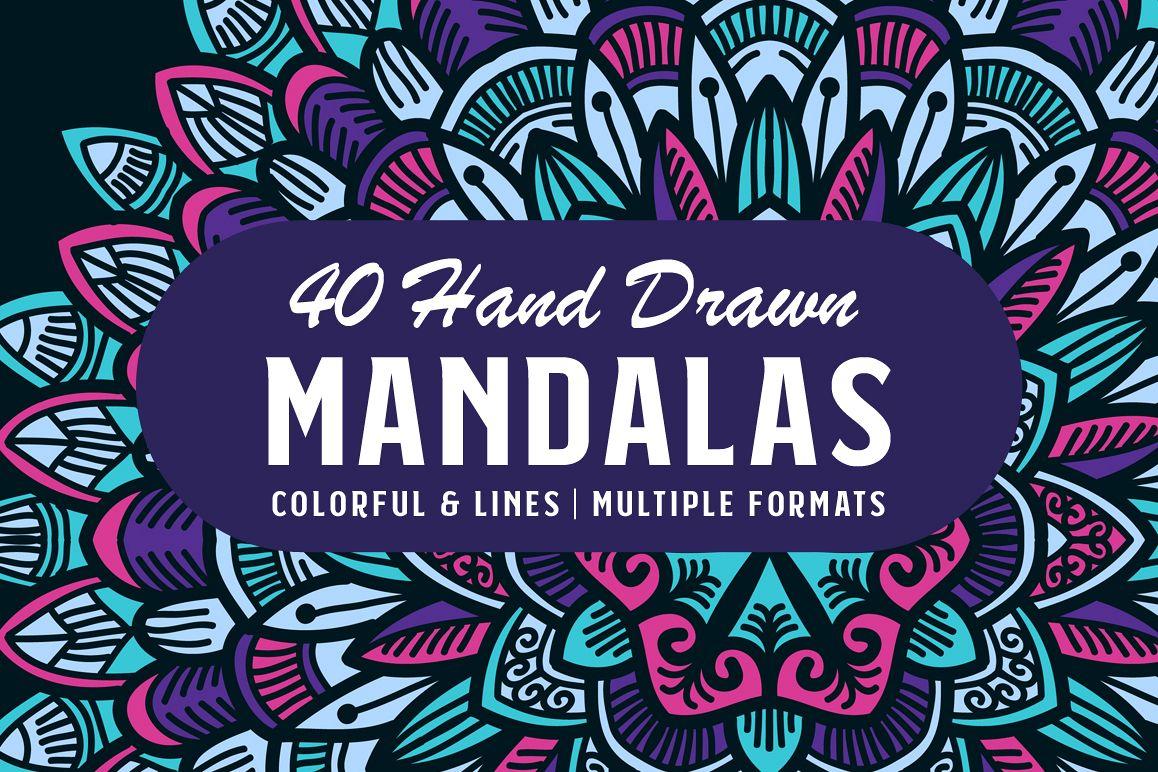 40 Hand Drawn Mandalas example image 1