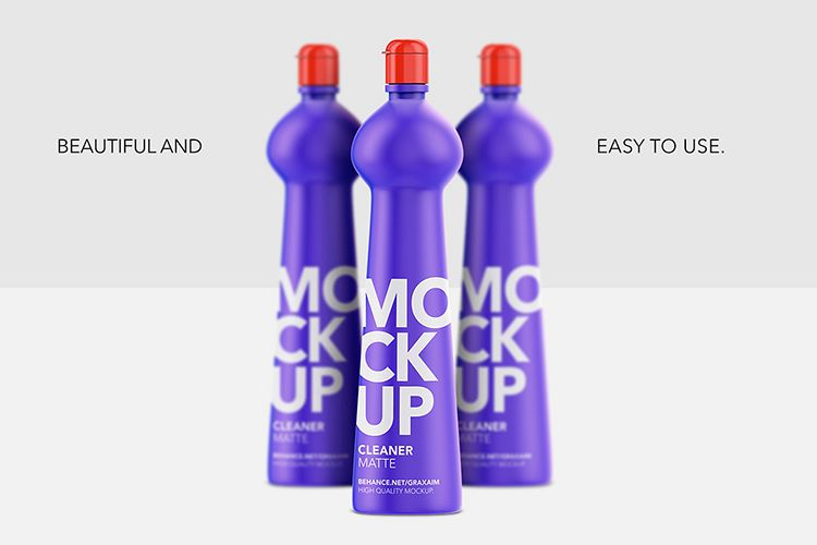 Cleaner Bottle Mockup - Matte - Front View example image 1