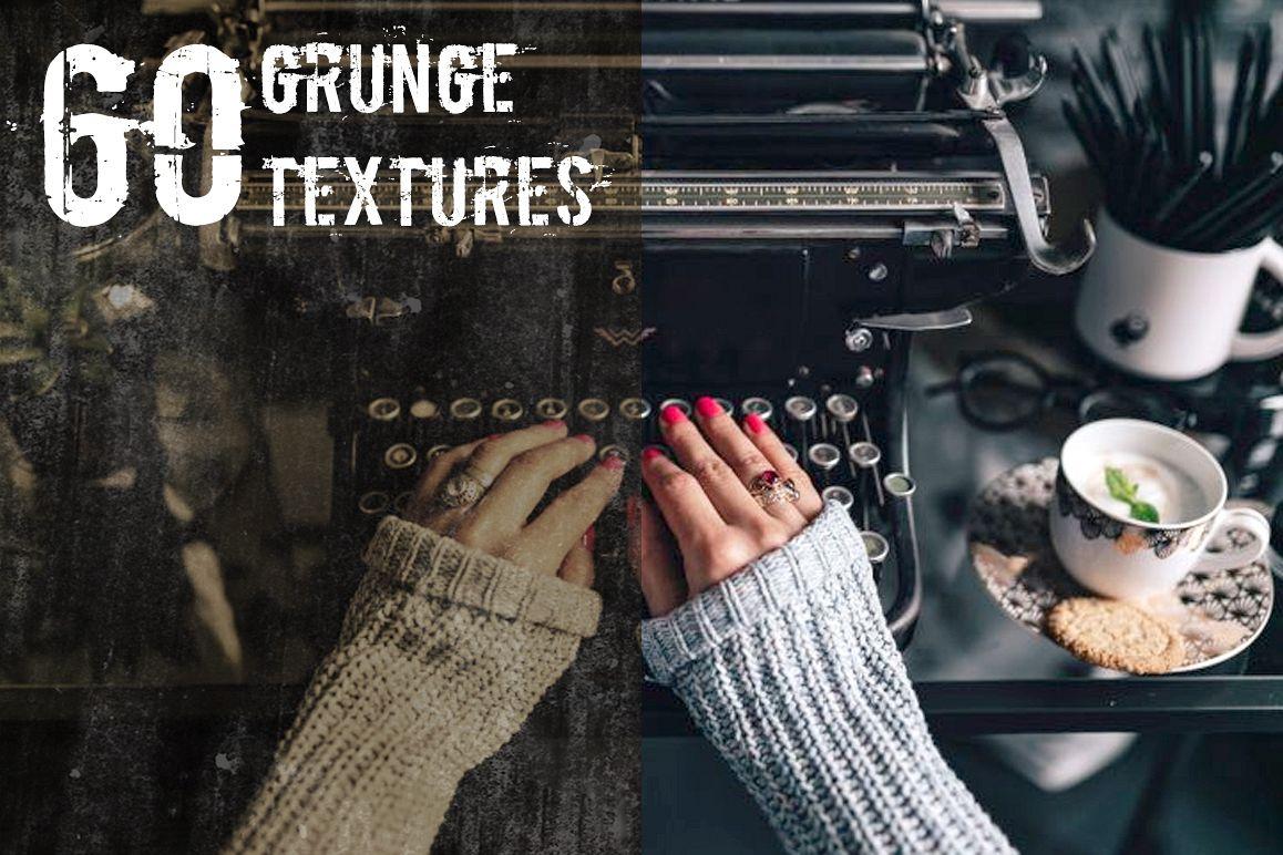 Grunge Texture Overlays example image 1