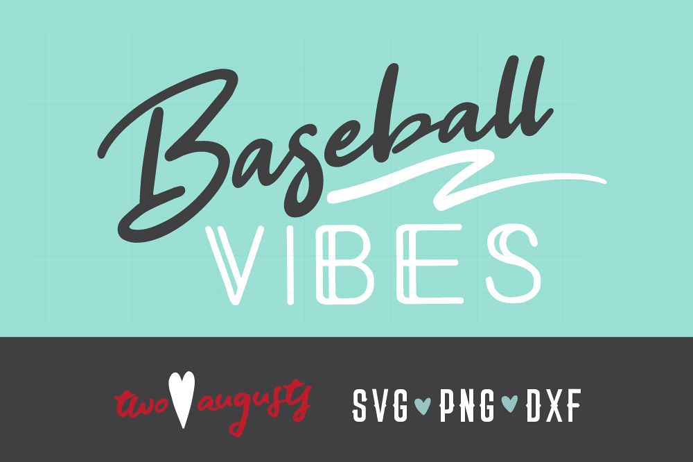 Baseball Vibes, Neon, Personalize, SVG, PNG, cursive, swash