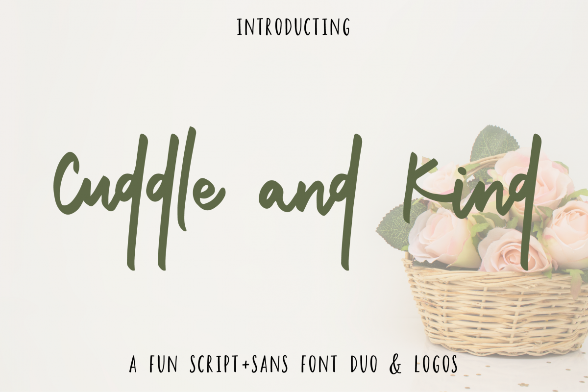 Cuddle and Kind Font Duo  Logos example image 1