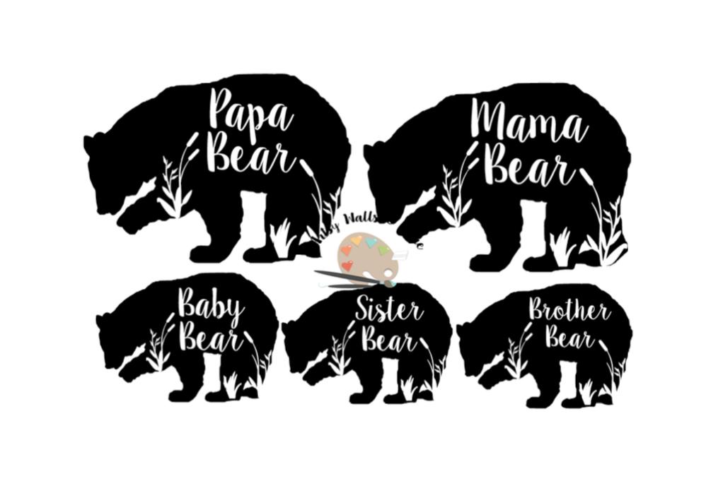 a3dc0494 Bear family svg dxf bundle Mama Bear Papa Bear Baby bear example image 1