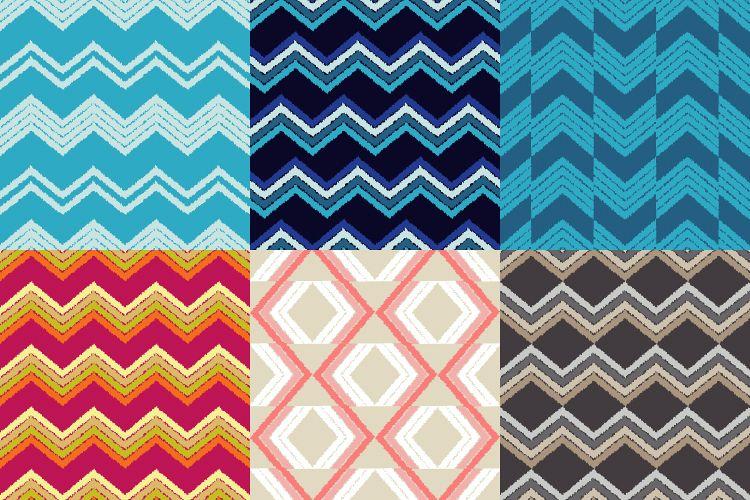 Ethnic boho seamless pattern. Scribble zigzag texture.  example image 1