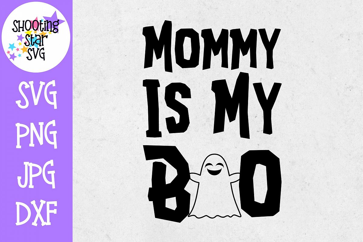 Mommy is my boo SVG - Little Kid SVG - Halloween SVG example image 1