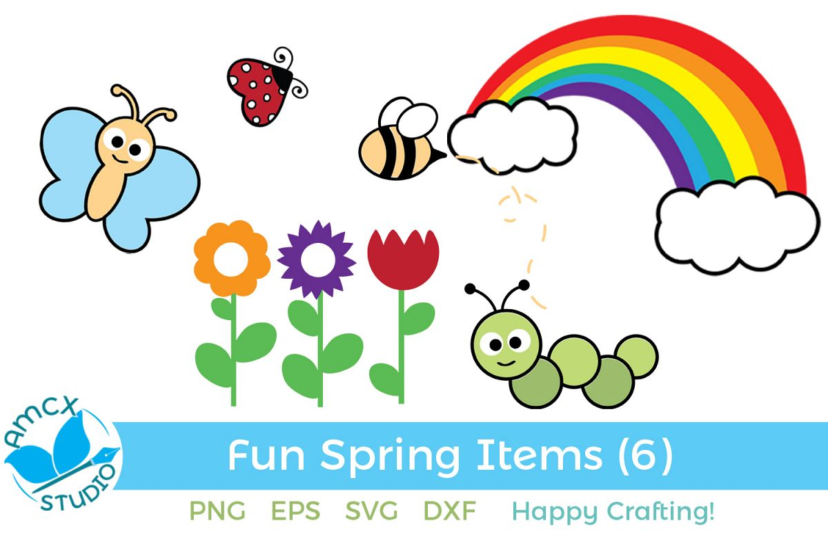 Spring Clip Art - A Cute Set of Spring Images example image 1