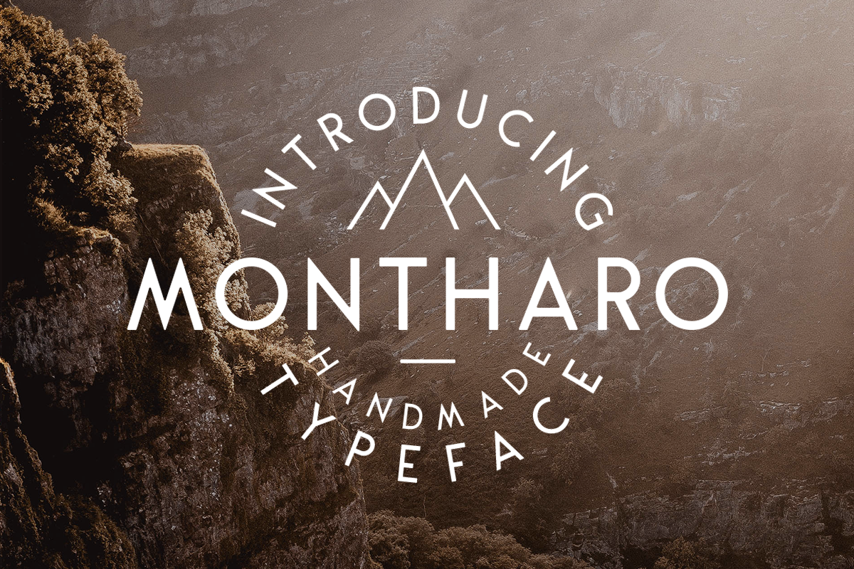 Montharo Typeface + Vector example image 1