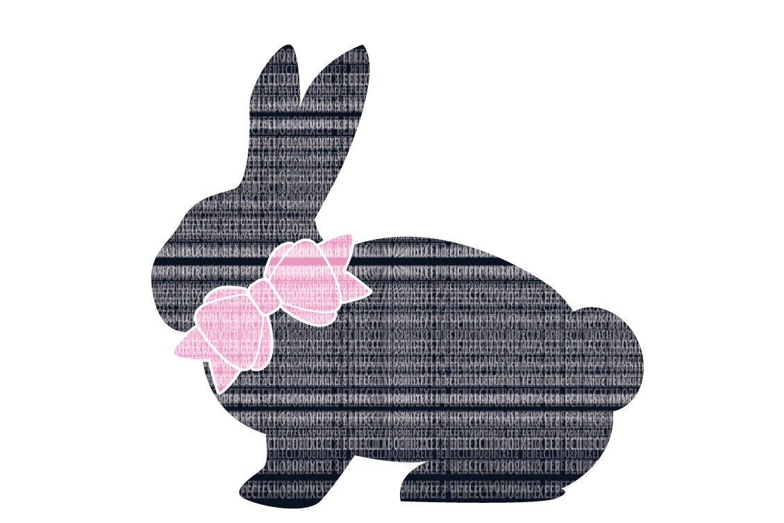 Easter Bunny SVG, Bow SVG, Files Printable DXF EPS PNG JPG Cut Files ...