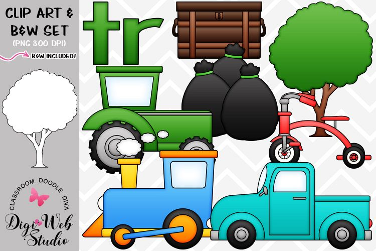 Clip Art / Illustrations - R Blends - tr Phonics example image 1