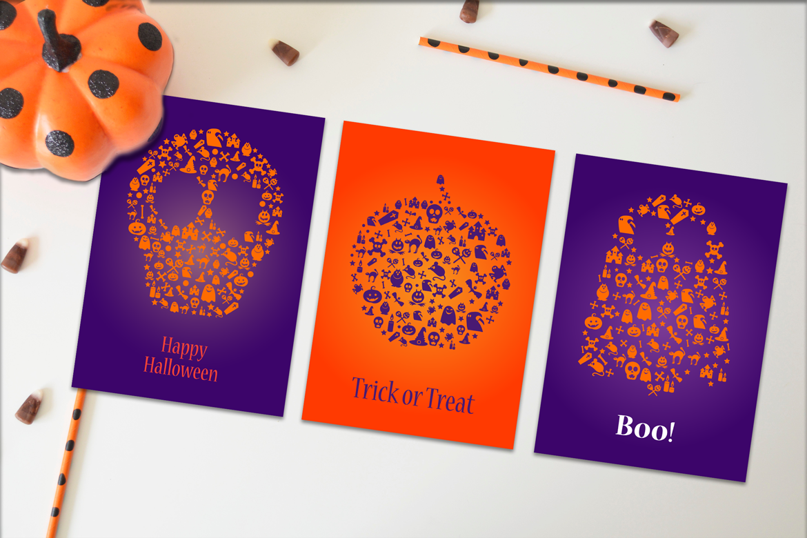Happy Halloween Silhouette Banners Set example image 1