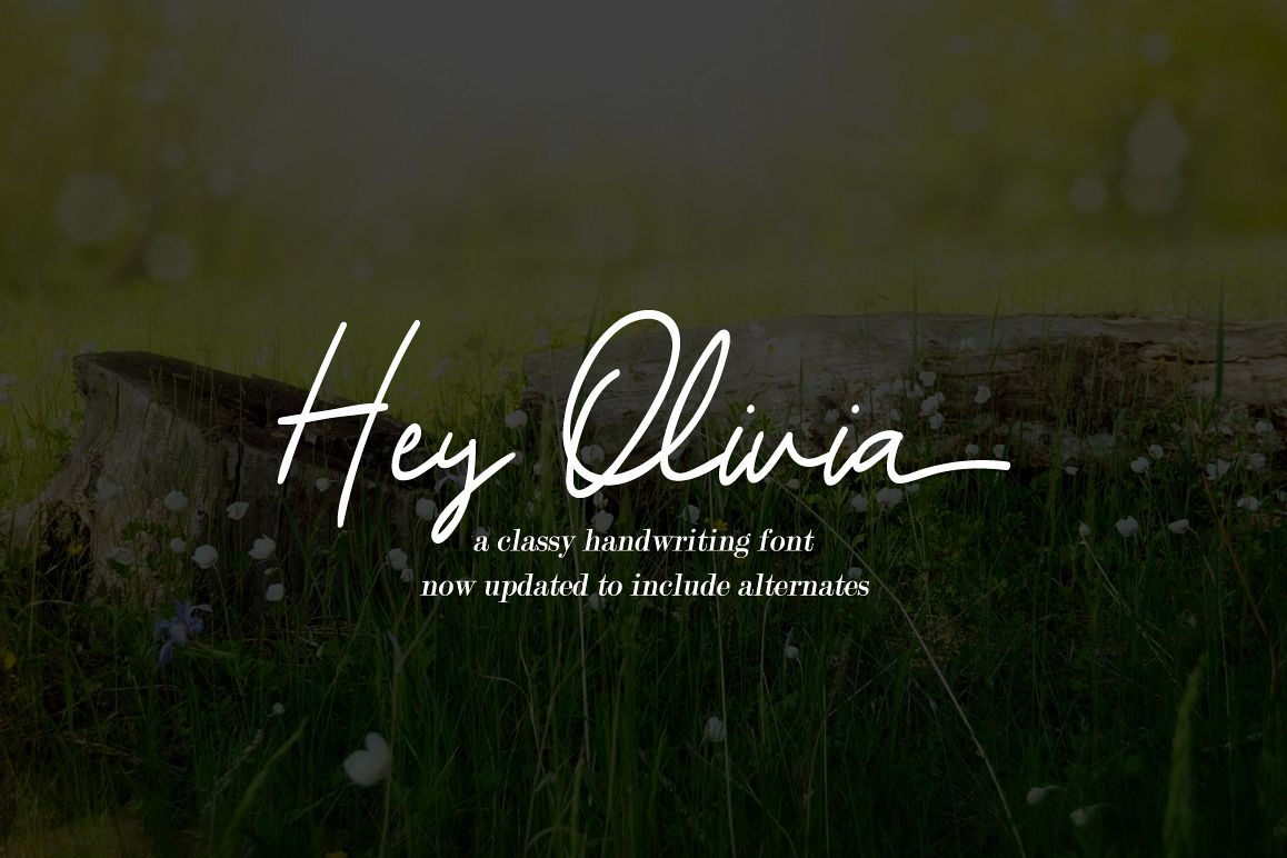 Hey Olivia - a classy handwriting font example image 1