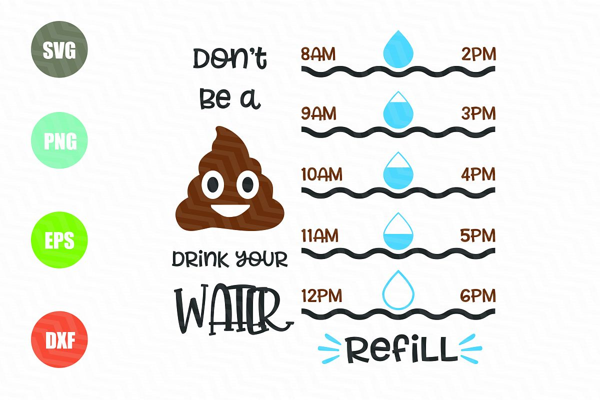 Water Tracker SVG File example image 1