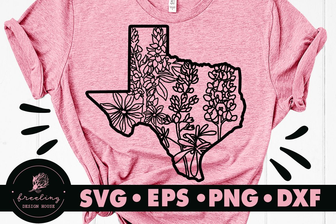 Texas Bluebonnet SVG DXF EPS PNG example image 1