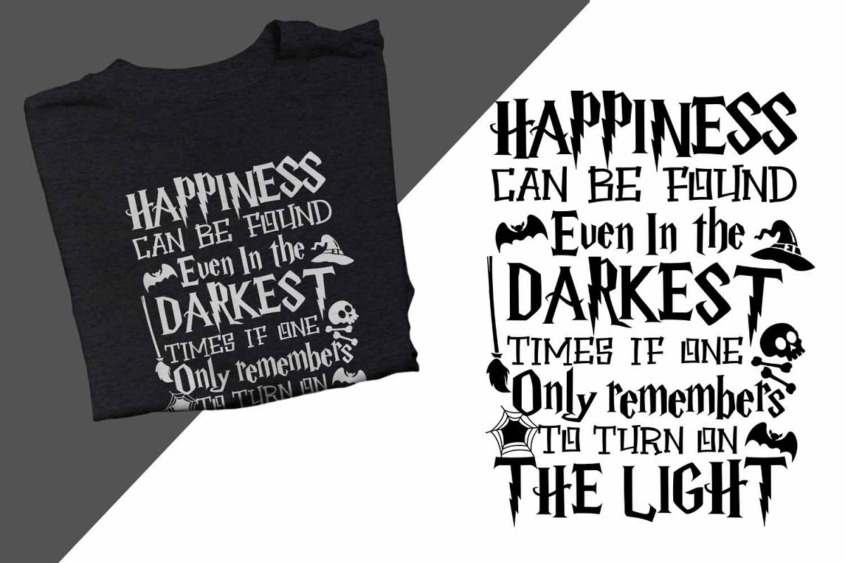 Happiness can found even in the darkest Halloween Printable example image 1