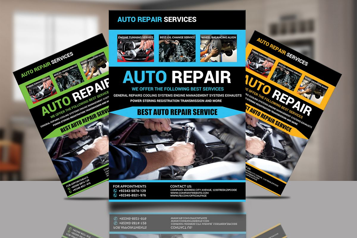 Auto Repair Flyer Design example image 1