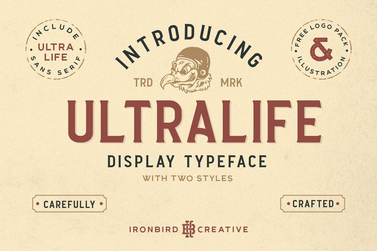 Ultralife Typeface example image 1