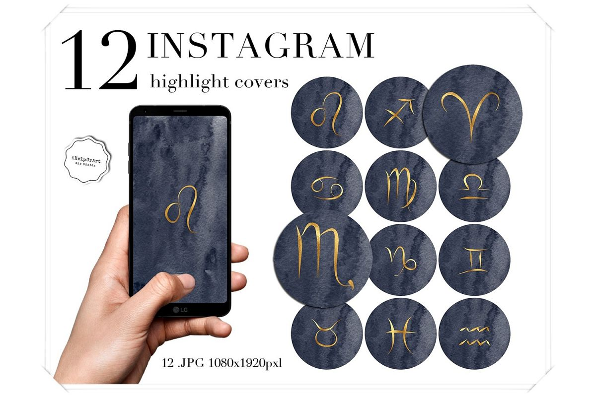 Zodiac Instagram Story Highlight Covers example image 1