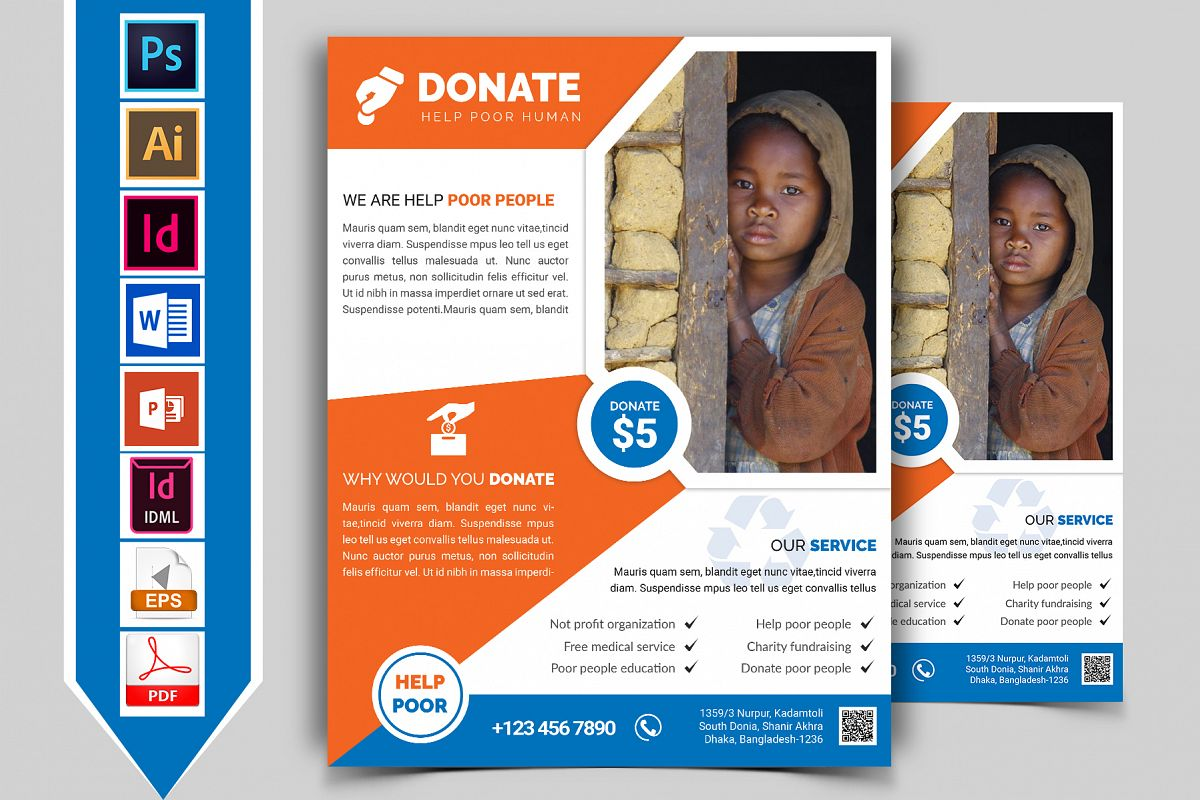 Charity Donation Flyer Vol-01 example image 1