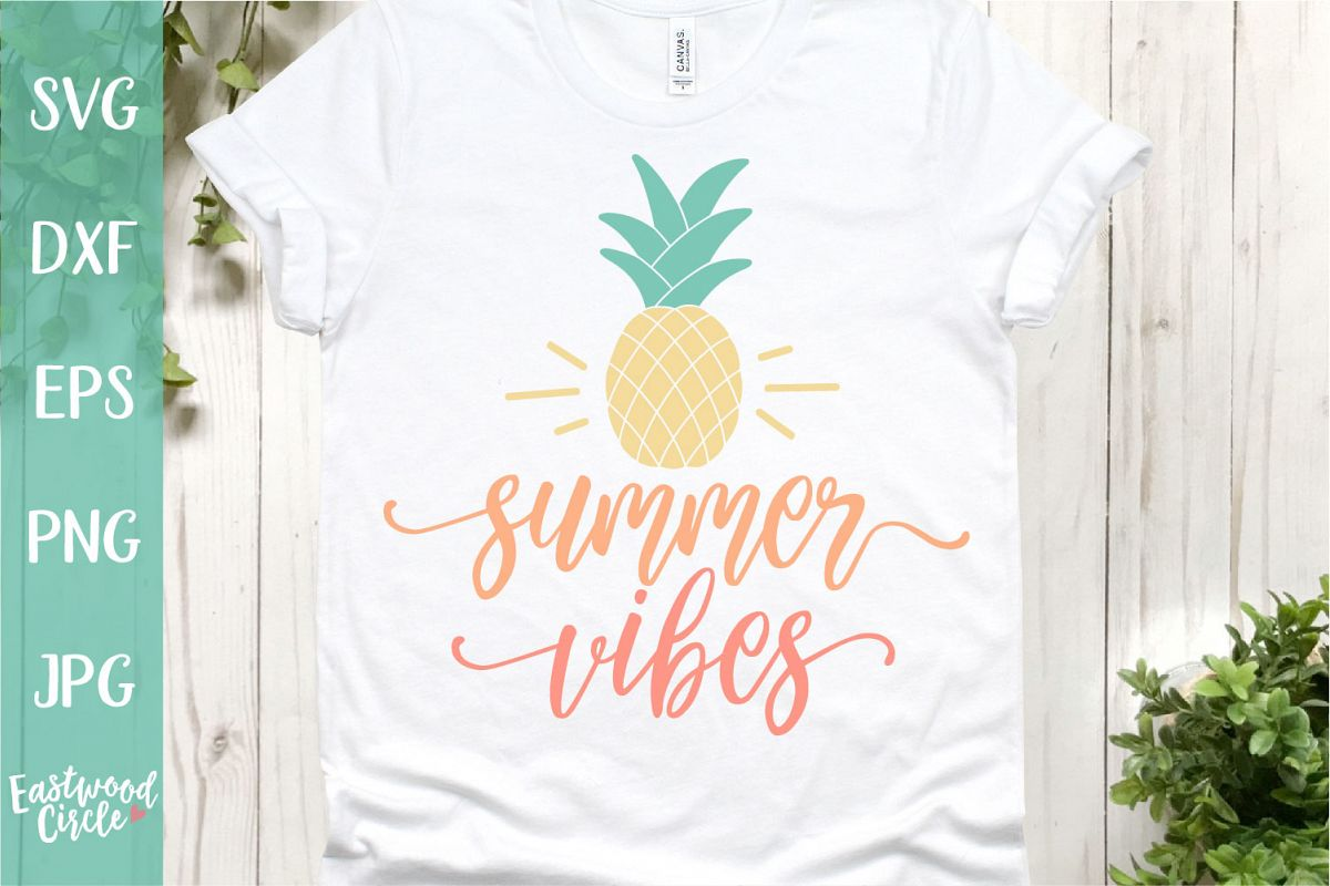 Summer Vibes - A Summer SVG File for Crafters example image 1