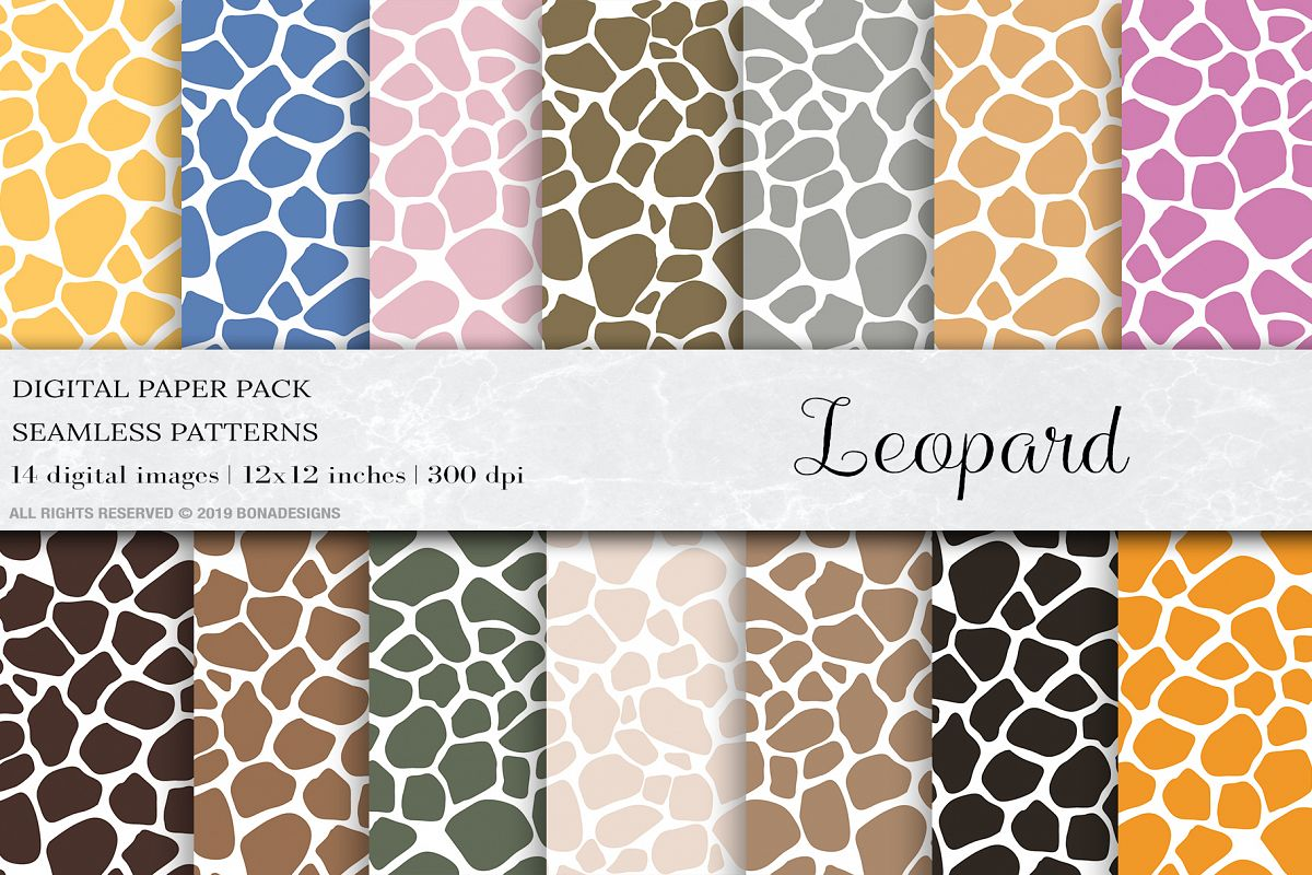 Leopard Seamless Pattern, Leopard Digital Papers example image 1