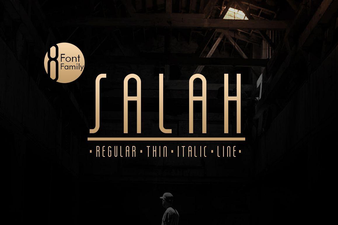 Salah Sans Serif 8 Font Family example image 1