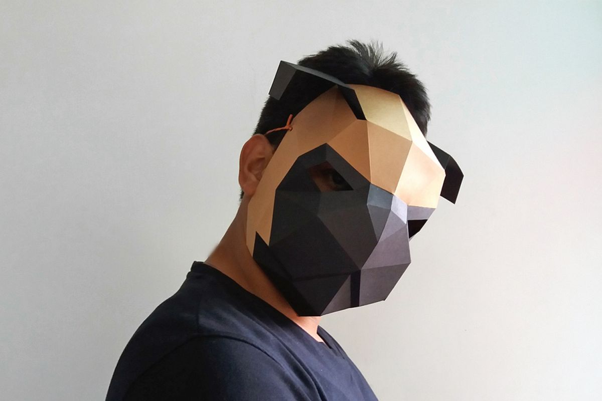 DIY Pug mask - 3d papercrafts example image 1