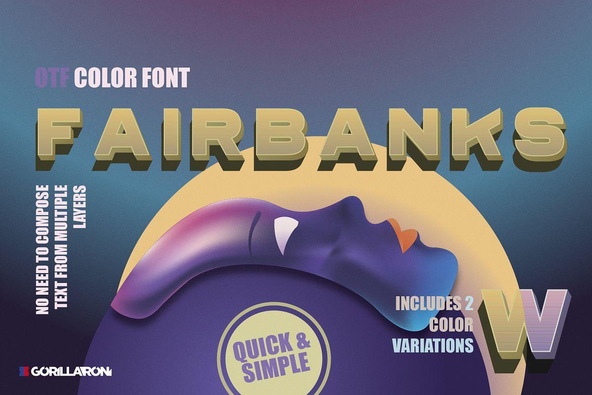 Fairbanks - sans serif color font example image 1
