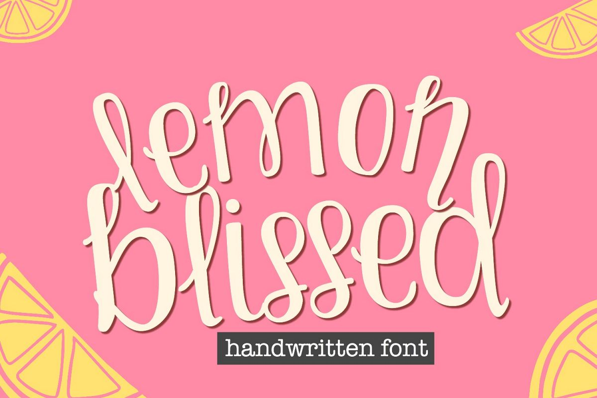 Lemon Blissed- Smooth Cut-Friendly Handwritten Font example image 1