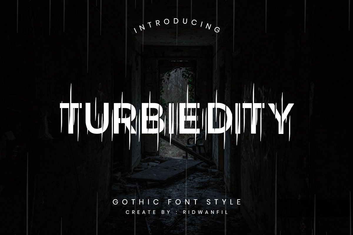 Turbiedity - Gothic Font Style example image 1