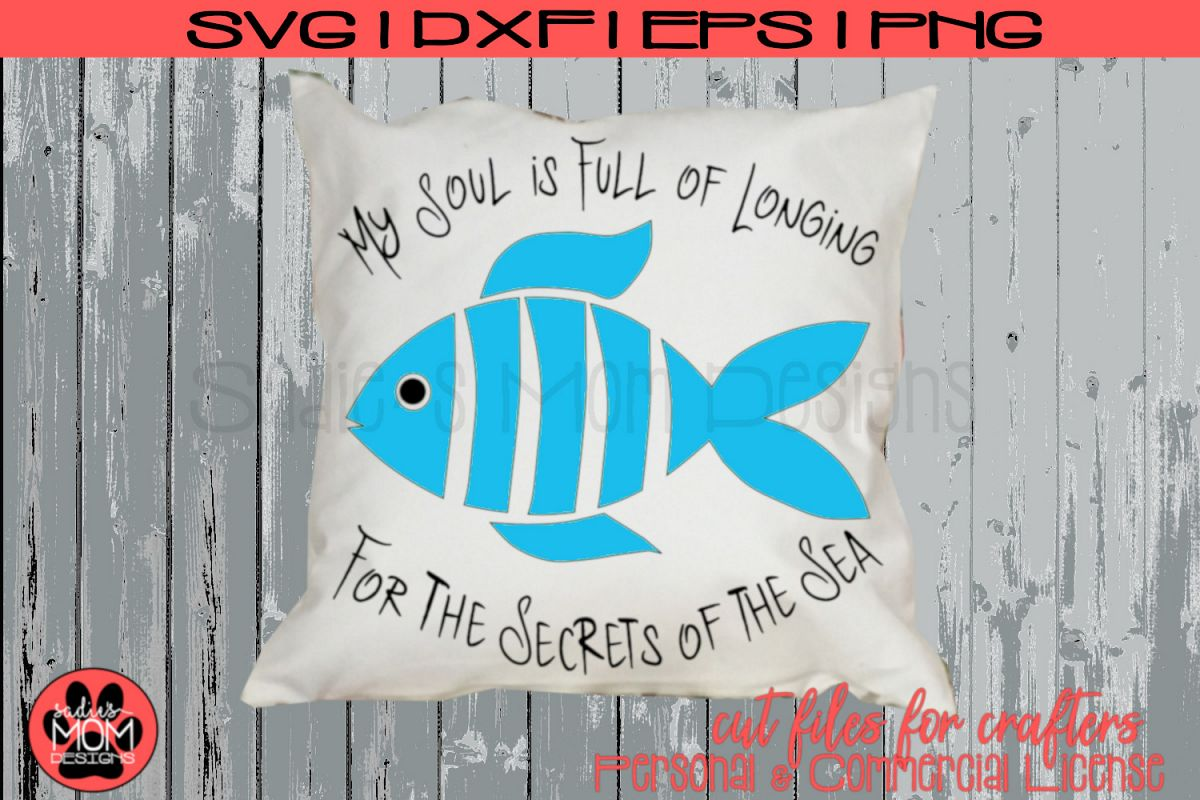 Whimsical Fish Design - Longfellow Secrets of the Sea | SVG example image 1