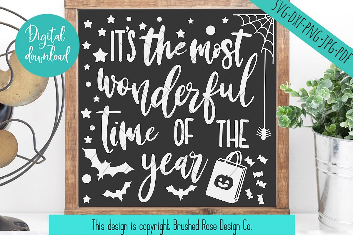 Halloween svg,fall svg,fall clipart, the most wonderful time example image 1