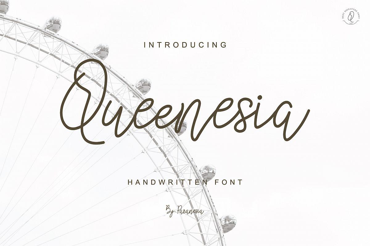 Queenesia Script Font example image 1