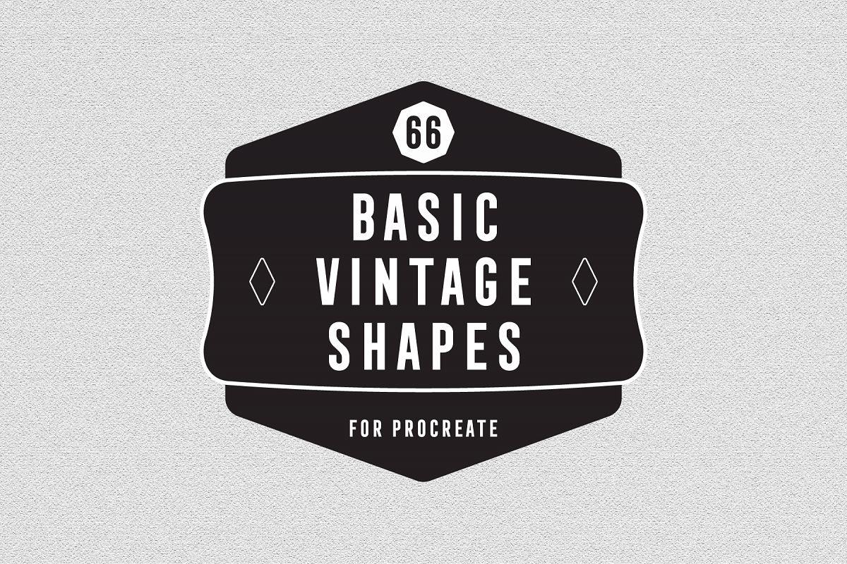 66 Basic Vintage Shape for Procreate example image 1