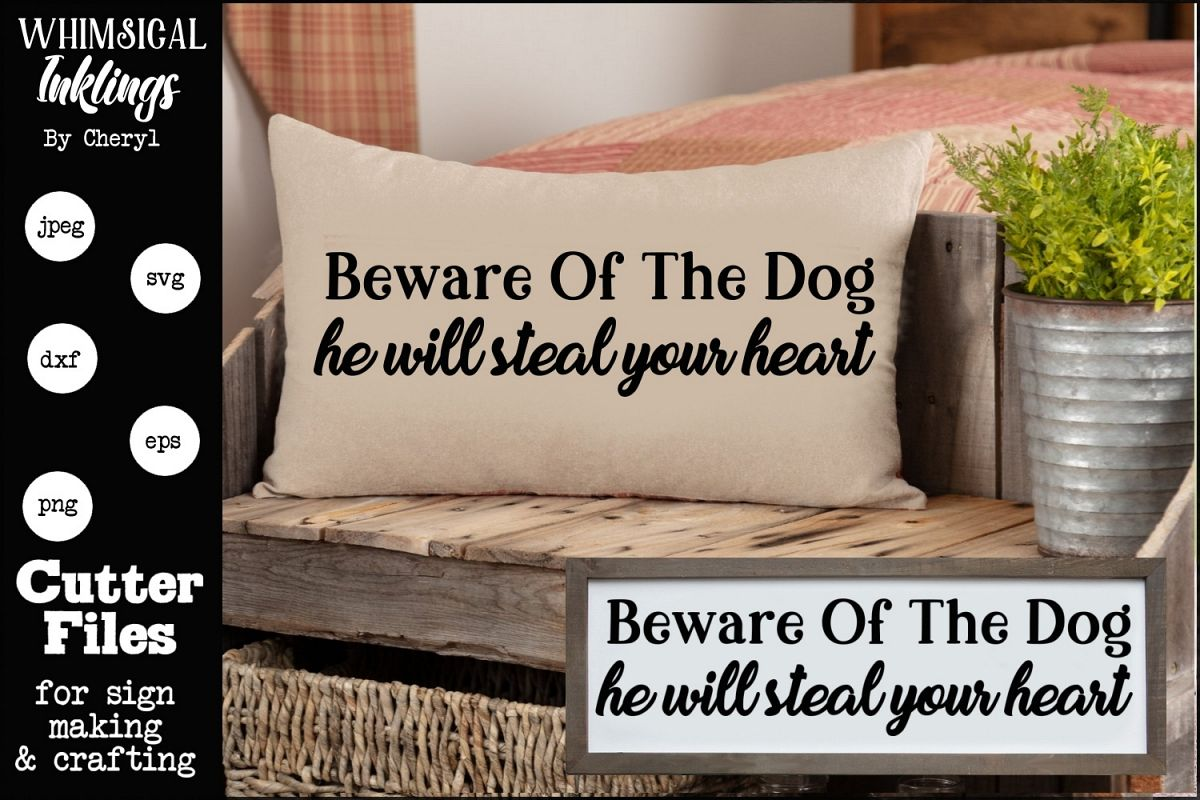 Beware Of The Dog SVG example image 1