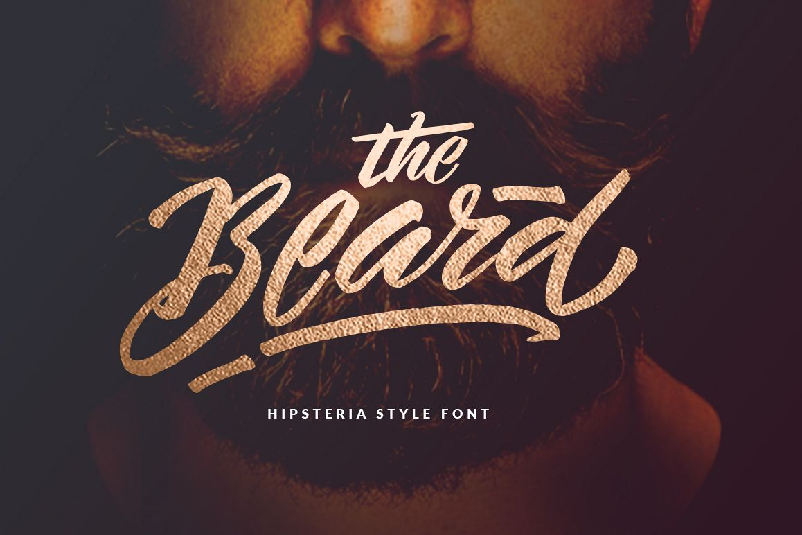 The Beard Hipster Font example image 1